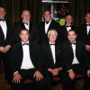 Paul Davidson (front left); Allan Davidson (front right) and guests of NK Fencing
