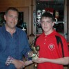 U14's Most Improved Player Robert Hamilton with youth sponsor Paul Davidson NK Group