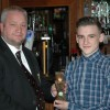 U16's Players Player of the year Adam White with Club Senoir VP Craig Adley