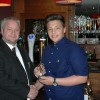 U16's Young Player Cameron McClean with Club Senoir VP Craig Adley