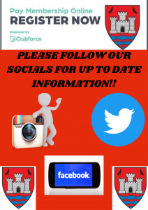 PLEASE FOLLOW OUR SOCIALS FOR UP TO DATE INFORMATION!!